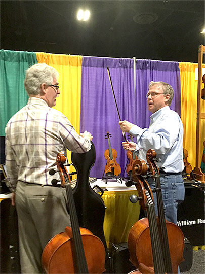 Tim Barnes of Barnesviolins w/ Mark Braunstein of W.H. Lee and Co.