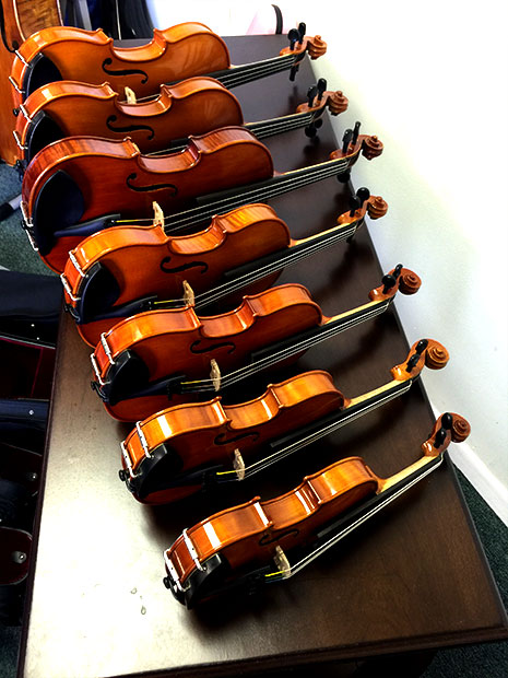 rental violins: all sizes, standard & advanced models